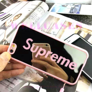 Customized Mirror Surface Mobile Phone Case with Strap for iPhone6/6plus pictures & photos