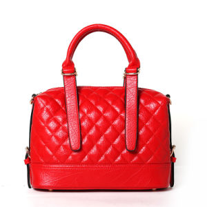 Noble Style Quilted Elegant PU Lady Handbag (PU-005) pictures & photos