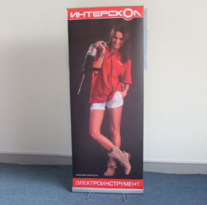 Adjustable Roll up Banner Stand, Retractable Banner Stand with Steel Wire Feet