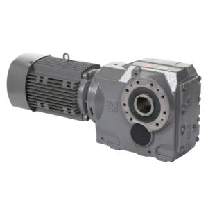 Helical Bevel Gearing Gearbox with Motor pictures & photos
