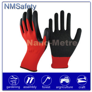 Nmsafety 13G Red Polyester Latex Coated Safety Glove pictures & photos