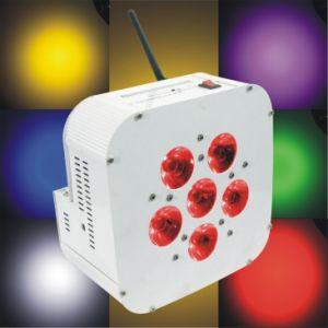 Wireless 6*15W RGBWA UV 6in1 Battery Wireless LED Flat PAR Light, LED Slim PAR pictures & photos