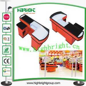 Supermarket Cashier Desk with Conveyor Belt pictures & photos