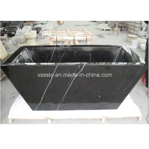 Natural Stone Black Marble Bathroom Bathtub for Sale pictures & photos
