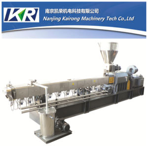 PP PE CaCO3 Filler Masterbatch Plastic Pelletizing Twin Screw Extruder Machine pictures & photos