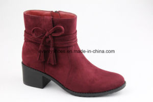 Fabric Fashion Lady Shoes Lovely Women Ankle Boots pictures & photos