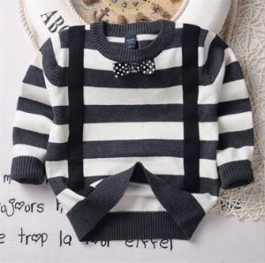 T1195 2015 New Design Fashion Knitting Striped Pure Cotton Long Sleeve Sweater for 1-6 Years Old Boys Infant Clothes pictures & photos