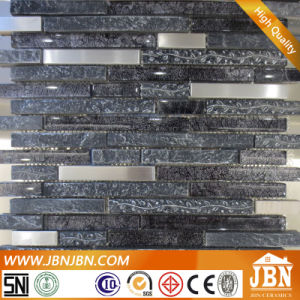 Vintage Style Resin, Stainless Steel and Black Glass Mosaic (M855067) pictures & photos