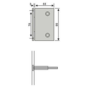 0 Degree Zinc Alloy Glass Door Hinge Used in Shower Room (CR-Y14) pictures & photos