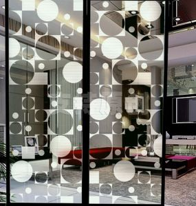 Tempered Glass Door Silk Screen Printed Color Pattern pictures & photos