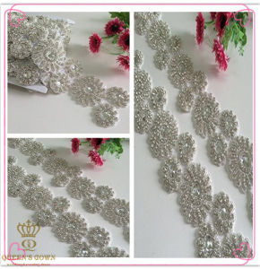 Long Wedding Dress Rhinestone Belt, Chain Drill pictures & photos