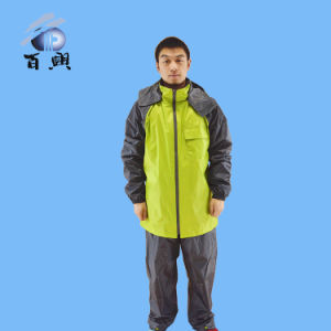 Adult Waterproof Lightweight Clear Polyester Rainsuit pictures & photos