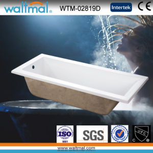 High Quality Simple Drop-in Bathtub (WTM-02819D) pictures & photos