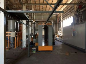 Second Recovery System Powder Coating Spray Booth with Two Cyclones pictures & photos