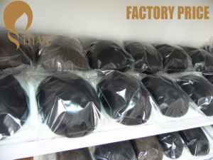 Factory Price Nature Hairline Toupee with Thin Skin Base pictures & photos