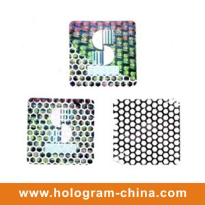 Tamper Evident Beehive Hologram Embossing Materials Aluminum Foil pictures & photos