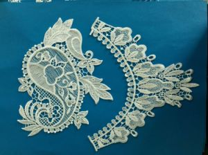 Pair of Ivory Lace Wedding Lace Appliqued DIY for Kids Bridal Dresses pictures & photos