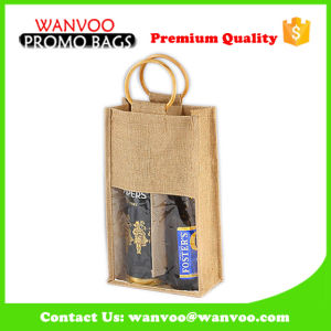 Elegant Recycle Present Wine Bag for 2 Bottle pictures & photos
