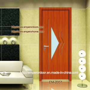 PVC Veneer Door, Free Paint Door, Panel Glass Door