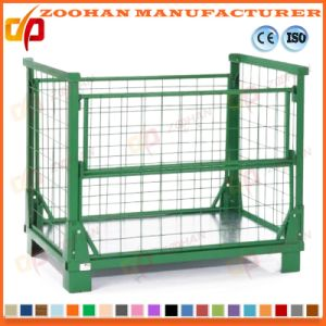 Stackable Folding Galvanized Welded Steel Wire Mesh Storage Cage (Zhra26) pictures & photos