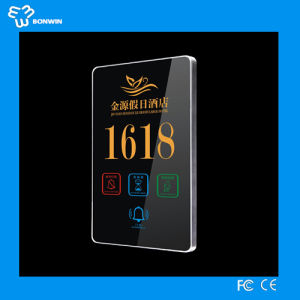 Elecronic Room Door Number Plates with LCD Screen pictures & photos