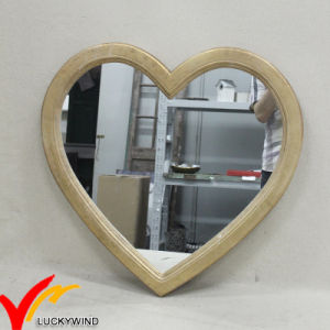 Vintage Plain Wood Heart Shaped Mirrors for Wall Decor pictures & photos