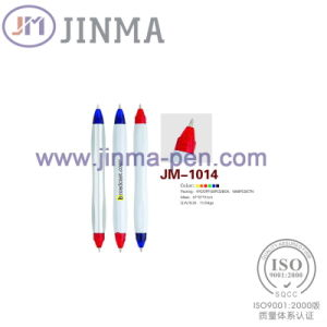 The Promotion Gifts Plastic Two Ends  Ball Pen Jm-1014 pictures & photos