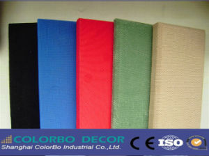 Sound Insulation Fabric Ceiling Tile Flame Resistant Panel pictures & photos