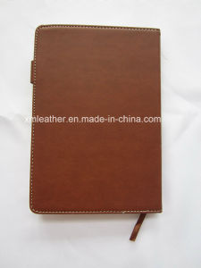 Custom Blank Hardcover Business A5 PU Leather Bound Notebook Diary pictures & photos