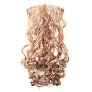 Wholesale Kanekalon Synthetic Hair Wig Extenson Clip in Volumizer Hair Piece Heat Resistance pictures & photos