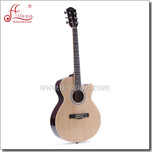 """[Winzz] 40"""" Spruce Plywood Araucaria Rosewood Fingerboard Cutaway Acoustic Guitar pictures & photos"""
