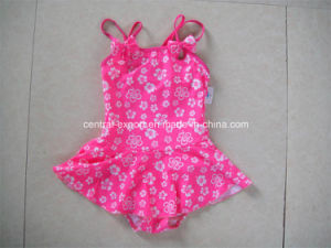 Allover Flower Printed Girl Swimwear pictures & photos