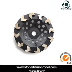 Arrow Shape Grinding Segmented Cup Wheels for Concrete pictures & photos