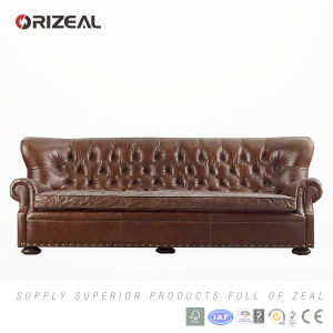 Orizeal Antique French Style Tufted Black Leather Chair (OZ-LS-2020) pictures & photos