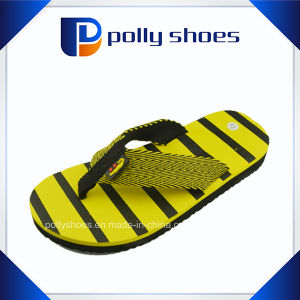 Fabric Upper Yellow Beach Funny Slipper Men pictures & photos