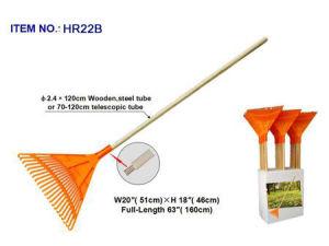Plastic Rake with Wood Handle
