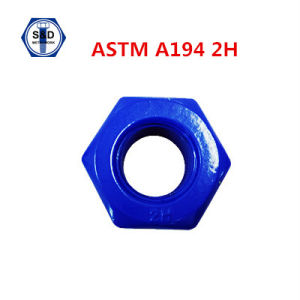 Teflon Finished ASTM A194 2h Heavy Hex Nut pictures & photos