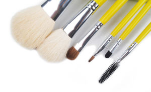 5 Pieces Yellow Color Goat Hair Cosmetic Makeup Brush pictures & photos