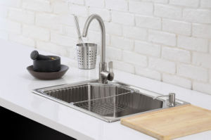 Kitchen Stainless One Piece Sink (6045L) pictures & photos