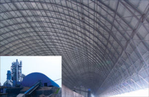 Arch Dry Coal Storage Shed Steel Space Frame Roofing System pictures & photos