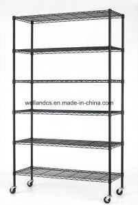 6 Tiers Black Epoxy Coated Steel Wire Shelving for Sundries Storage & Garage Storage pictures & photos