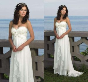Lace Wedding Dress Vestidos Empire Bohemia Country Bridal Gown Ld11524 pictures & photos