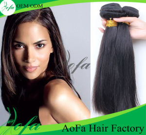 100% Unprocessed Virgin Brazilian Human Remy 7A Straight Weft pictures & photos