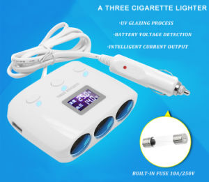 3in 1 Cigarette Lighter 2USB Car Charger Power Supply pictures & photos