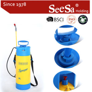 Shixia Seesa Plastic Wholesale 8L 5L Garden Tool Agriculture Hand Pressure Air Compression Pressure Gauge Pump Sprayer pictures & photos