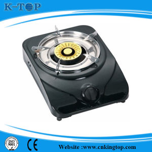 Black Coated Panel Simple Gas Stove