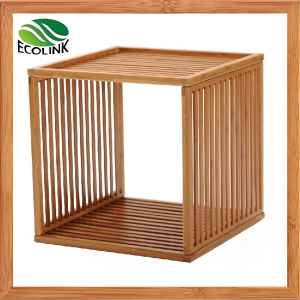 DIY Creative Combination Slotted Bamboo Storage Shelf pictures & photos