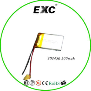 3.7V 303450 500mAh Lithium Polymer Battery pictures & photos