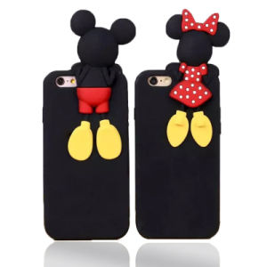 Lovely Mickey Minnie Silicone Phone Case for Huawei P8 P9 LG X Style X Power X Cam (XSD-028)