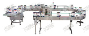 Coating Bucket Orientation Wrap-Around Labeling Machine pictures & photos